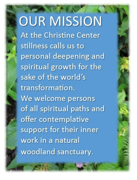 the mission statement for Christine Center, focusing on wellness, spiritual growth and natural living
