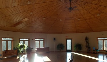 meditation hall for group retreat gathering space